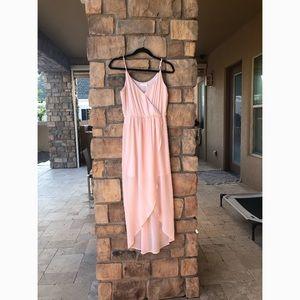Nordstrom's Lush pale pink flowy dress